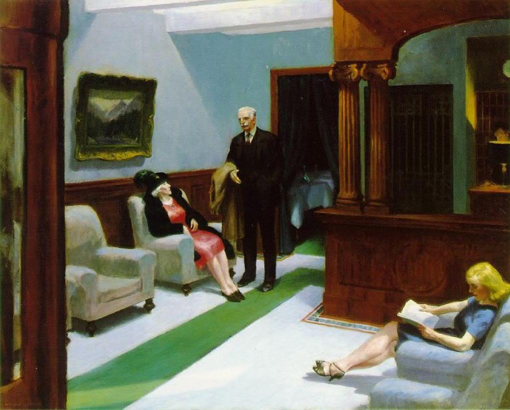 Hotel Lobby, Edward Hopper, 1943